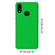 Hardcase Galaxy A10s rubberized green Cover Pic:1
