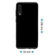 Silicone Case Galaxy A50 transparent black + protective foils Pic:1