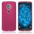 Silicone Case Moto E5 (5th Gen) matt hot pink Case