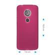 Silicone Case Moto E5 (5th Gen) matt hot pink Case Pic:1
