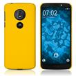 Hardcase Moto G6 Play rubberized yellow Cover