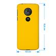 Hardcase Moto G6 Play rubberized yellow Cover Pic:1