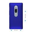 Hardcase Xperia XZ2 Premium gummiert blau Case Pic:1