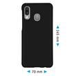 Hardcase Galaxy A40 rubberized black + protective foils Pic:1