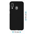 Silicone Case Galaxy A40 matt black Cover Pic:1
