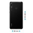 Silicone Case Y7 Pro 2019 (Enjoy 9) transparent Crystal Clear Cover Pic:1