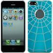 Hardcase for Apple iPhone 5 / 5s Spiderweb blue