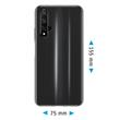 Silicone Case Honor 20 transparent Crystal Clear + protective foils Pic:1