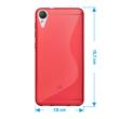 Silicone Case Desire 10 Lifestyle S-Style red + protective foils Pic:1