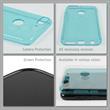 Silikon Hülle Desire 12 Plus transparent türkis Case Pic:3