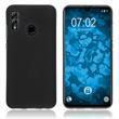Silicone Case Honor 10 Lite matt black Cover