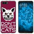 Huawei Honor View 10 Silicone Case Crazy Animals M1