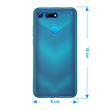 Silicone Case Honor View 20 transparent turquoise Cover Pic:1
