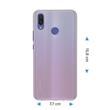 Silikon Hülle P Smart+ matt transparent-weiß Case Pic:1