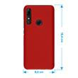 Hardcase P Smart Z rubberized red Cover Pic:1