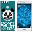 Huawei P9 Silicone Case Crazy Animals Panda M2