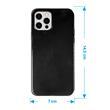 Silicone Case iPhone 12 Pro transparent black Cover Pic:1