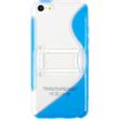 Silicone Case for Apple iPhone 5c stand function blue Pic:2