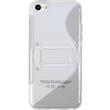 Silicone Case for Apple iPhone 5c stand function gray Pic:2