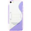 Silicone Case for Apple iPhone 5c stand function purple Pic:2