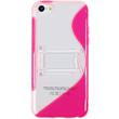 Silicone Case for Apple iPhone 5c stand function hot pink Pic:2