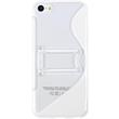 Silicone Case for Apple iPhone 5c stand function white Pic:2