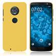 Hardcase Moto G6 gummiert gelb Case