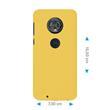 Hardcase Moto G6 gummiert gelb Case Pic:1