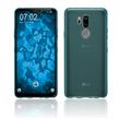 Silicone Case G7 ThinQ transparent turquoise Case