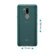 Silicone Case G7 ThinQ transparent turquoise Case Pic:1