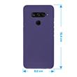 Silicone Case V40 ThinQ matt purple Cover Pic:1