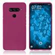 Silicone Case V40 ThinQ matt hot pink Cover