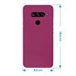 Silicone Case V40 ThinQ matt hot pink Cover Pic:1