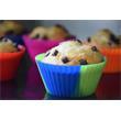 12x Cupcake-Förmchen in 6 verschiedenen mehrfarbigen Versionen Silikon Muffin-Formen Backform Pic:2