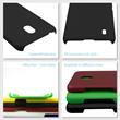Hardcase Nokia 2.2 rubberized black + protective foils Pic:3