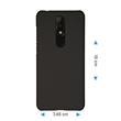 Hardcase Nokia 5.1 Plus gummiert schwarz Cover Pic:1