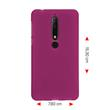 Silikon Hülle Nokia 6.1 (2018) matt pink Case Pic:2