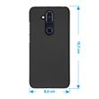 Hardcase Nokia 8.1 (X7) rubberized black Cover Pic:1
