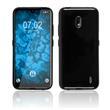 Silicone Case Nokia 2.2  black + protective foils