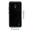Silicone Case Nokia 2.2  black + protective foils Pic:1