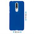 Silicone Case Nokia 3.1 Plus matt blue Cover Pic:1