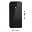 Silicone Case Nokia 4.2 transparent Crystal Clear + protective foils Pic:1