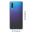 Silicone Case P30 transparent Crystal Clear Cover Pic:1