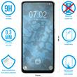 2 x Galaxy A80 Protection Film Tempered Glass clear full screen black Pic:1