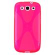 Silicone Case for Samsung Galaxy S3 X-Style hot pink Pic:1