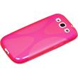 Silicone Case for Samsung Galaxy S3 X-Style hot pink Pic:3