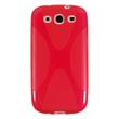 Silicone Case for Samsung Galaxy S3 X-Style red Pic:1