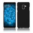 Hardcase Galaxy A8 (2018) rubberized black Case