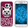 Samsung Galaxy S7 Silicone Case Crazy Animals M1
