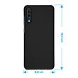 Hardcase Galaxy A70 rubberized black Cover Pic:1